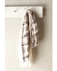 Anthropologie Patchworked Plaid Scarf