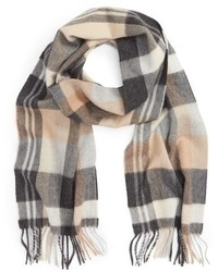 Plaid cashmere scarf medium 827815