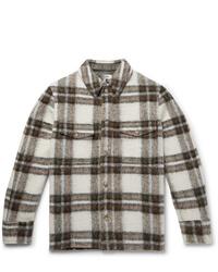 Isabel Marant Gervon Checked Wool Blend Shirt Jacket