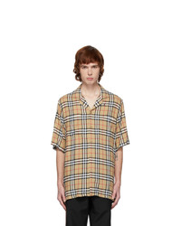 Burberry Beige Raymond Short Sleeve Shirt