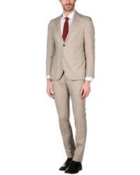 Beige Plaid Suit