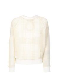 Mr & Mrs Italy Embroidered Tartan Mesh Sweatshirt