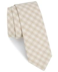 The Tie Bar Mesh Plaid Cotton Tie
