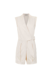 Egrey Romper With Knot Detail