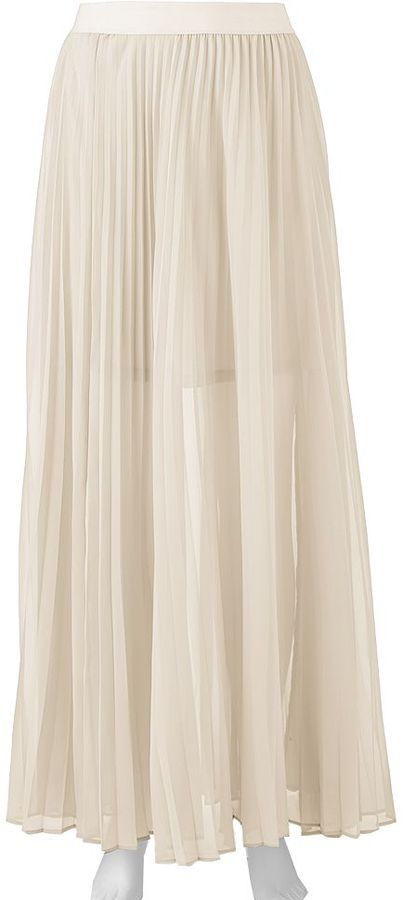 Lauren Conrad Lc Chiffon Pleated Maxi Skirt | Where to buy & how ...