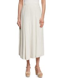 Eileen Fisher Wide Leg Pleated Ankle Pants