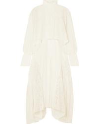 Chloé Asymmetric Ed Crepe Midi Dress