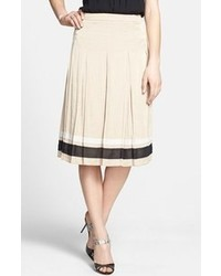 Chelsea28 Ribbon Trim Pleated Skirt