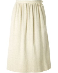 Saint laurent yves vintage pleated jersey skirt medium 433504
