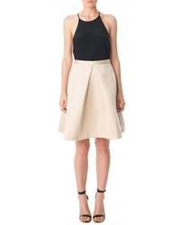 Tibi Satin Pleated Skirt