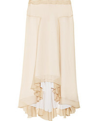Reed Krakoff Silk Chiffon Midi Skirt