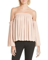 Elizabeth and James Emelyn Pleated Off The Shoulder Top