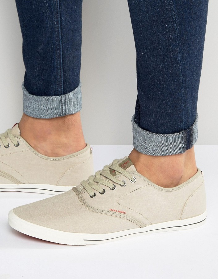 Jack and Jones Jack Jones Spider Chambray Canvas Sneaker   Where to ... a8c409704e67