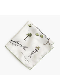 J.Crew X Pierre Le Tantm For Design Miamitm Pocket Square
