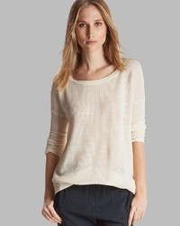 Halston Heritage Sweater Boat Neck Perforated