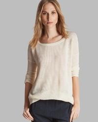 Heritage sweater boat neck perforated medium 20175