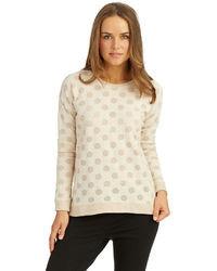 Kensie Polka Dot Sweatshirt