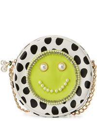 Smiley pearl polka dot crossbody bag citron medium 636258