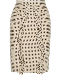 Polka dot silk pencil skirt medium 196884
