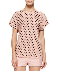 Micro polka dot print blouse medium 175898