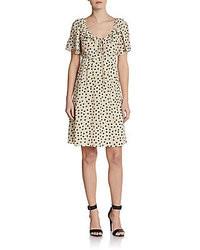 Dolce gabbana silk georgette polka dot dress medium 36422