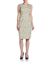 Dolce gabbana stretch cotton polka dot dress medium 36424