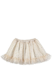 Beige Polka Dot Skirt