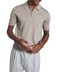 Reiss Maxwell Wool Quarter Zip Polo Shirt