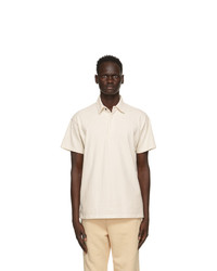 Les Tien Off White Rugby Polo