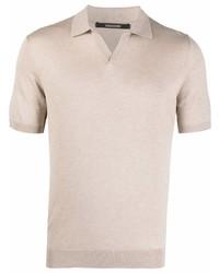 Tagliatore Short Sleeved Silk Polo Shirt