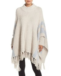 Barefoot dreams cozy chic beach fringe lounge poncho medium 1158866