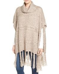 Hinge Marled Knit Poncho