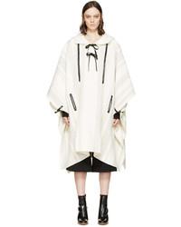 3.1 Phillip Lim Ivory Grey Wool Poncho
