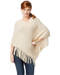 INC International Concepts Petite Textured Fringe Poncho Only At Macys