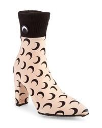 Marine Serre Moon Print Sock Boot