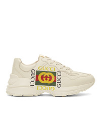 Gucci Off White Box Logo Ryhton Sneakers
