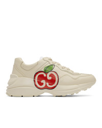 Gucci Off White Gg Apple Rhyton Sneakers