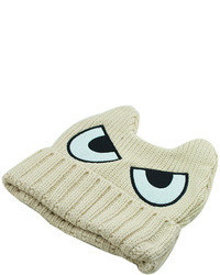 Beige eyes of devil ox horn beanie medium 94998