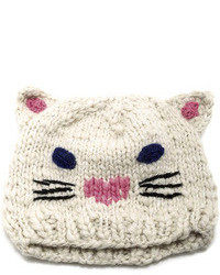Caren forbes cat face knit beanie medium 94994