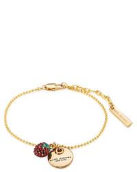 Marc Jacobs Strawberry Logo Disc Bracelet