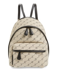 Stella McCartney Logo Canvas Mini Backpack