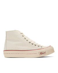 Visvim Off White Skagway Hi Patten Sneakers