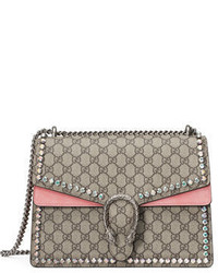 Dionysus gg canvas chain shoulder bag with crystals medium 6710957