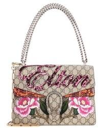 Gucci Dionysus Medium Canvas And Snakeskin Bag