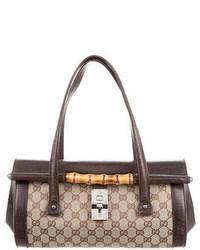 Gucci Gg Canvas Bamboo Bullet Bag