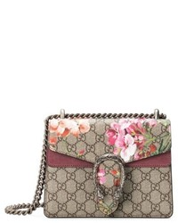 Mini dionysus gg blooms canvas suede shoulder bag beige medium 6710952