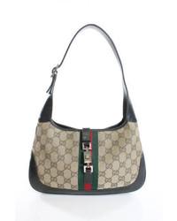 Gucci Original Gg Canvas Jackie O Shoulder Handbag