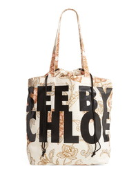 See by Chloe Logo Canvas Tote