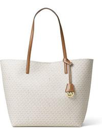 MICHAEL Michael Kors Michl Michl Kors Hayley Large East West Logo Print Tote Bag Vanillaacorn