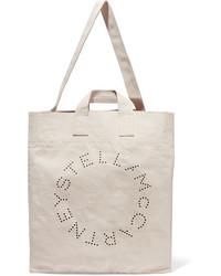 Stella McCartney Printed Cotton Canvas Tote Cream